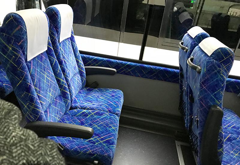 阪急観光バス シートピッチ