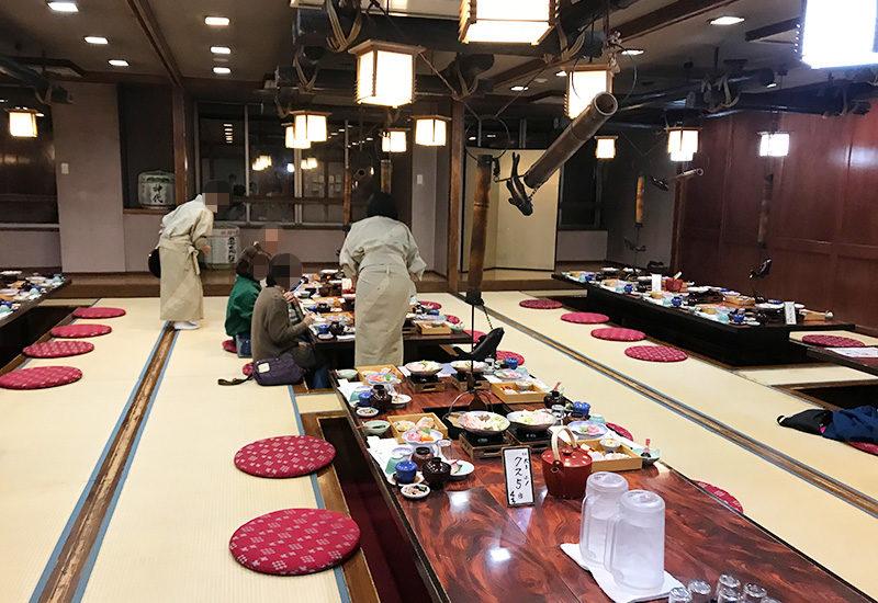 奥飛騨薬師のゆ 本陣 夕食 会場