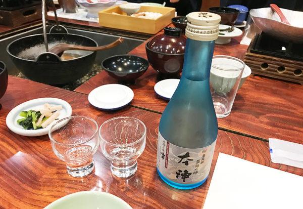 奥飛騨薬師のゆ 本陣 夕食 日本酒 冷酒