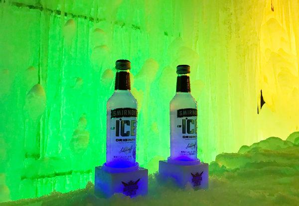 奥飛騨温泉郷 タルマかねこおり ライトアップ 氷のバー スミノフ ホットワイン