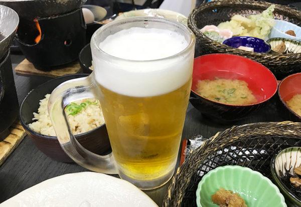 和歌山 日帰りバスツアー ランチ 昼食 お食事処 あんちん 生ビール