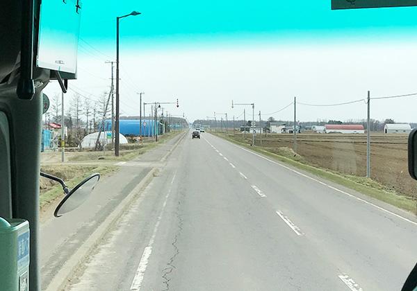 北海道 まっすぐの道