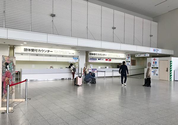 伊丹空港 大阪国際空港 JAL 団体受付カウンター