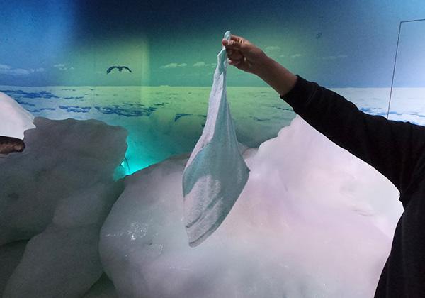 天都山展望台 オホーツク流氷館 流氷体感テラス