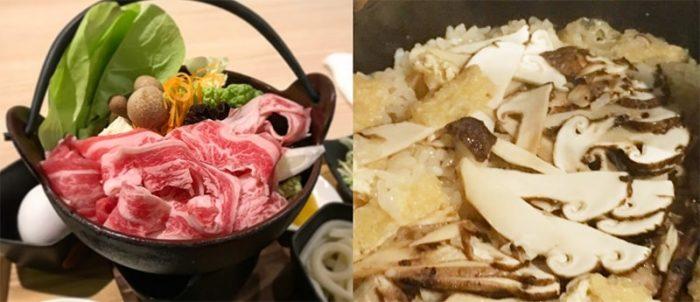 すき焼き 松茸ご飯 食べ放題